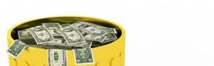 money-in-trash